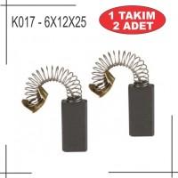 6x12x25 black decker web manyetik matkap kömür