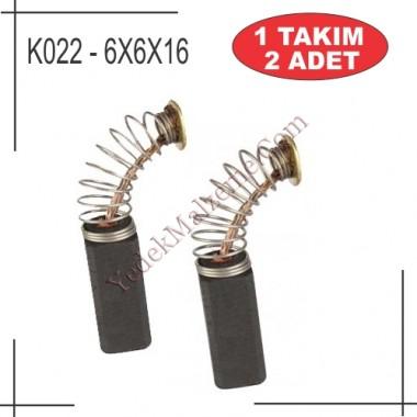 6x6x16 Makita Bosch Tipi Kömür