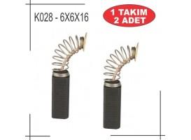 6,4x6,4x16 Bosch Tipi Matkap Kömürü