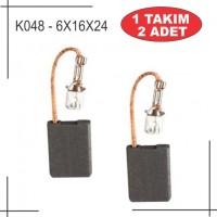 6x16x24 Metabo Tipi BüyükTaşlama W2080,W2230,W2530 Kömürü