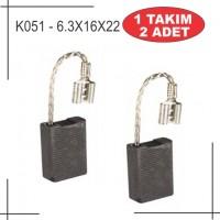 6.3X16X23 Bosch Tipi Büyük Taşlama Kömürü