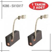 5X10X17 BOSCH TİPİ SİGORTALI KARBON FIRÇA