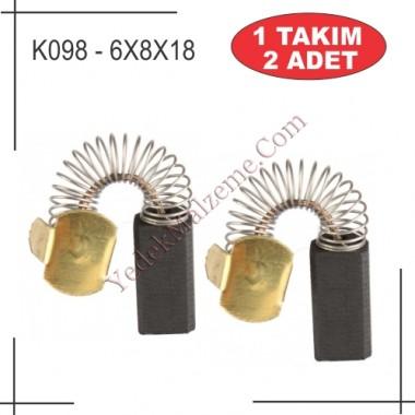 6X8X18 RUPES TİPİ KARBON FIRÇA