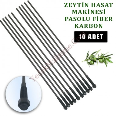 Minelli Zeytin Hasat Makinası uyumlu Karbon fiber çubuk pasolu 5 mm.  10 Adet