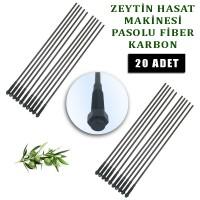 Minelli Zeytin Hasat Makinası uyumlu Karbon fiber çubuk pasolu 5 mm. 20 Adet