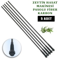 Minelli Zeytin Hasat Makinası uyumlu Karbon fiber çubuk pasolu 5 mm. 5 Adet