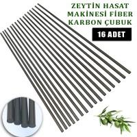 Derentürk  Zeytin Hasat Makinası Uyumlu Karbon Fiber Çubuk 5 mm. 16 Adet