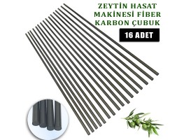 Zanon Zeytin Hasat Makinası uyumlu Karbon fiber çubuk 5 mm. 16 ad
