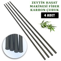 Derentürk Zeytin Silkme Makinası uyumlu Karbon fiber çubuk 5 mm. 4 Adet