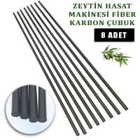 Zanon Zeytin Silkme Makinası uyumlu fiber çubuk 5 mm. 8 adet