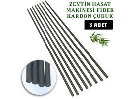 Derentürk Zeytin Silkme Makinası Uyumlu Fiber Çubuk 5 mm. 8 Adet